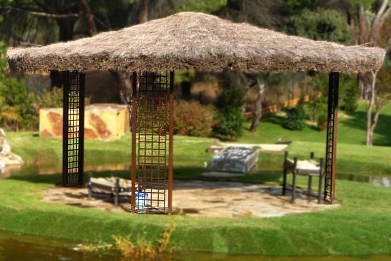 Slabon forja decoracion iluminacion fuentes mesas madrid - Pergolas de forja ...