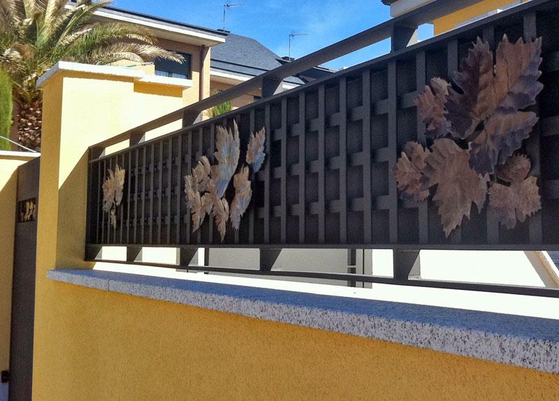 Slabon forja decoracion iluminacion fuentes mesas madrid for Vallas decorativas